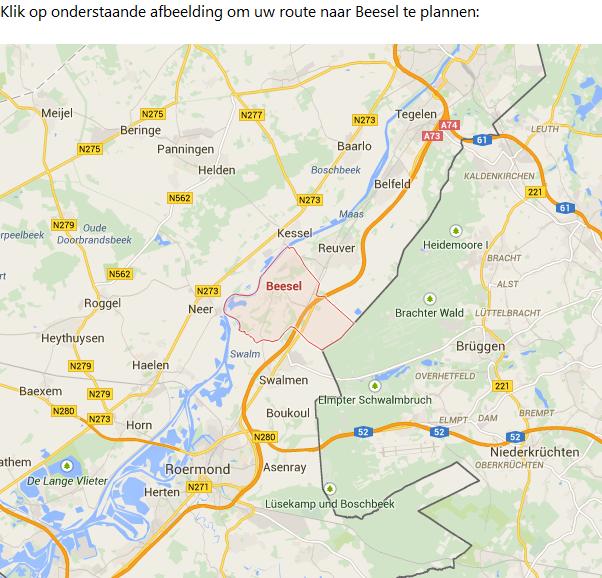 Route naar Beesel